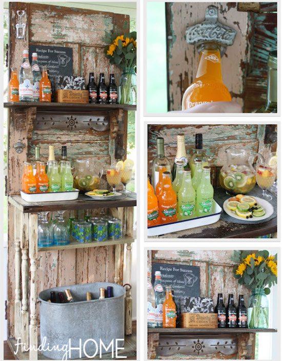 Upcycled_Vintage_Door_Beverage_Bar2