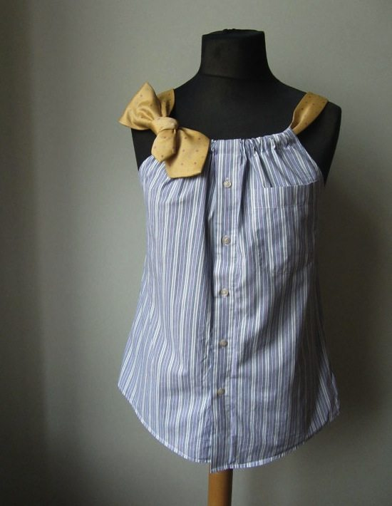 upcycled dress shirt