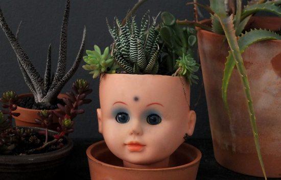 Freaky Doll Head Planter