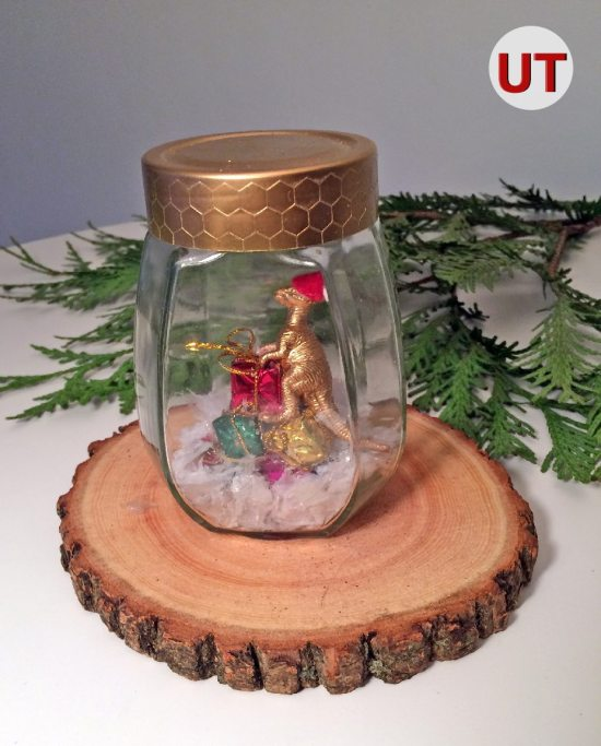 Dinosaur Snow Globes | Upcycle that