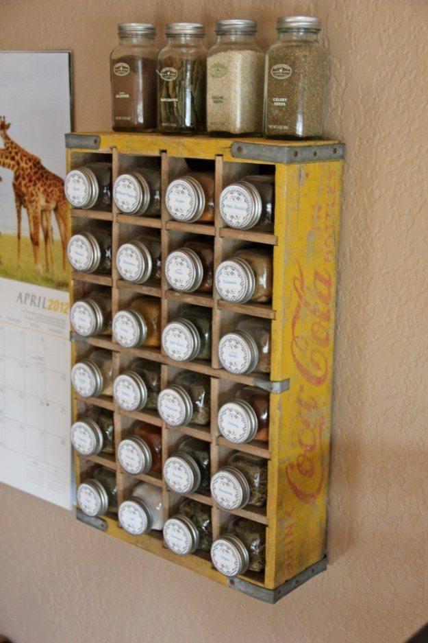 Kitchen Organization - Spice Rack Crate