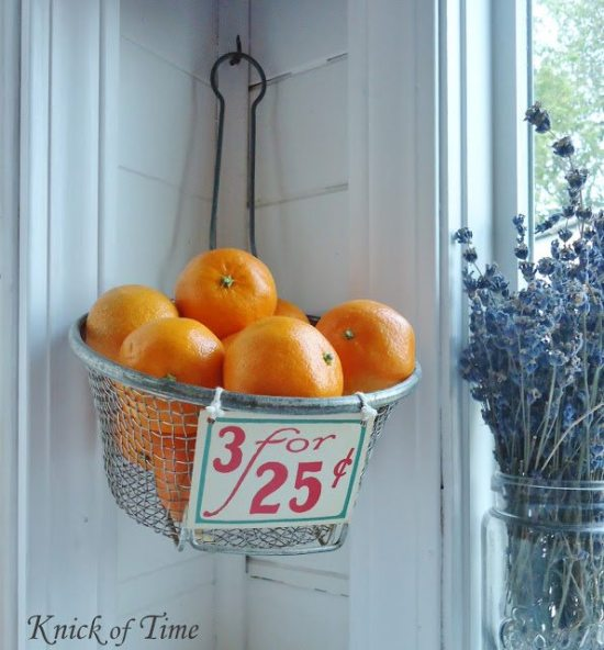 Kitchen organization ideas - fruit basket