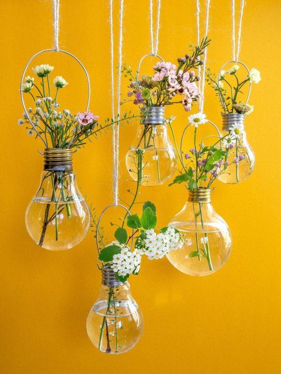 Spring flowers - light bulb vases