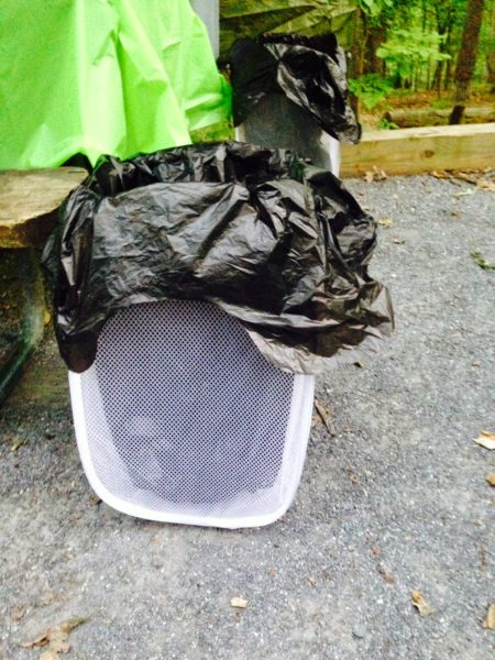 Camping hacks - garbage/recycling