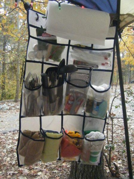 Camping hacks - kitchen organizer