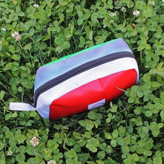 Toastie Pouch – Red, White, Blue & Green