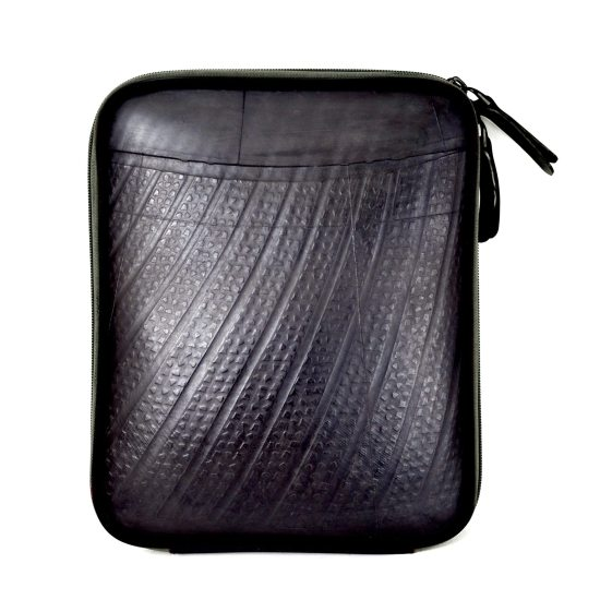 Swan iPad Case (Black Zip)