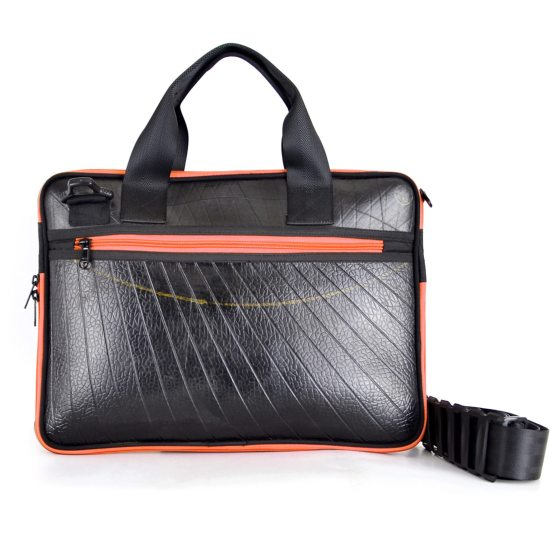 Panther Laptop Case (Orange Zip)