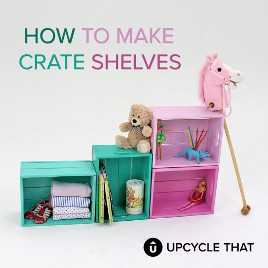 Crate Shelves DIY Tutorial