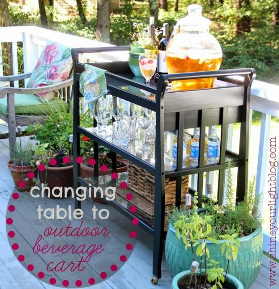 Changing Table Turned Bar Cart