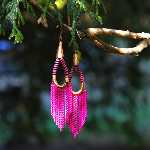 Flip Flop Earrings - Pink