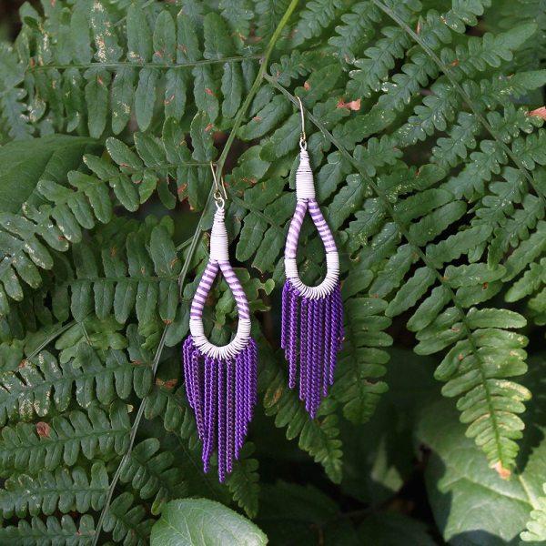Flip Flop Earrings - Purple