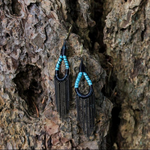 Flip Flop Earrings - Turquoise
