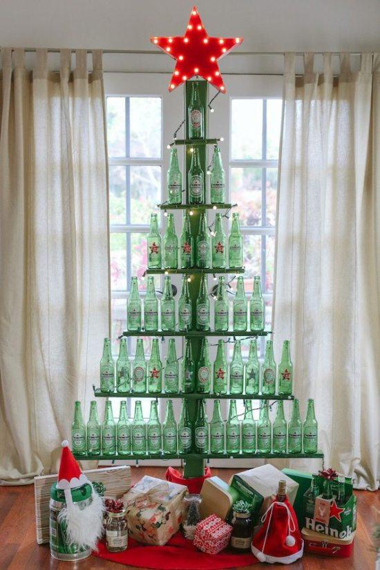 Alternative Christmas Trees - Bottle Tree
