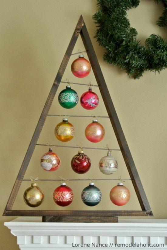Alternative Christmas tree - ornament tree