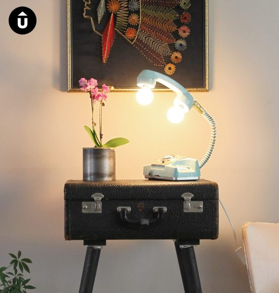 Phone lamp - retro phone lamp