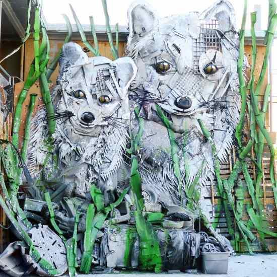 Trash Animal - white foxes