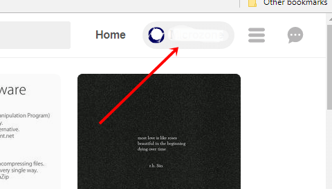 Pinterest profile setting option