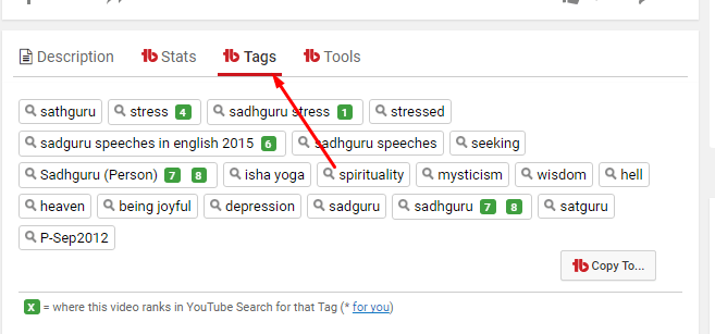 youtube tags ranking