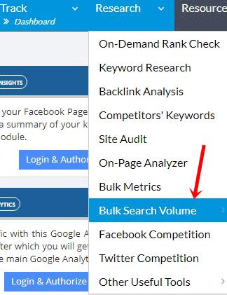 Bulk search volume