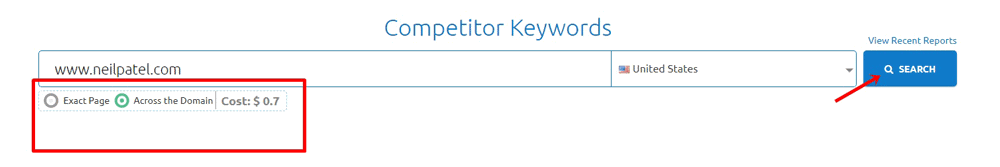 Competitor Keywords Search