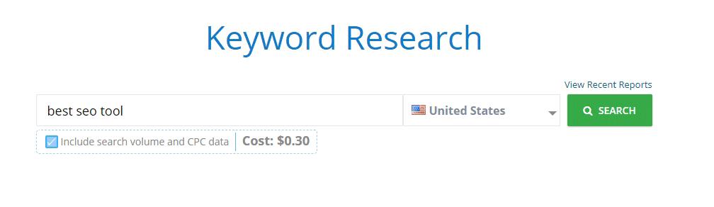 Keyword Research mondovo tool