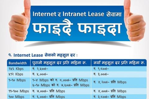 Nepal Telecom Internet and Intranet Leased Line connectivity