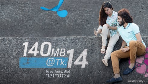 GP 140MB 14Tk Offer