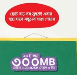 Airtel 300MB Internet 29Tk Offer