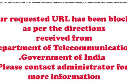 url blocked in India