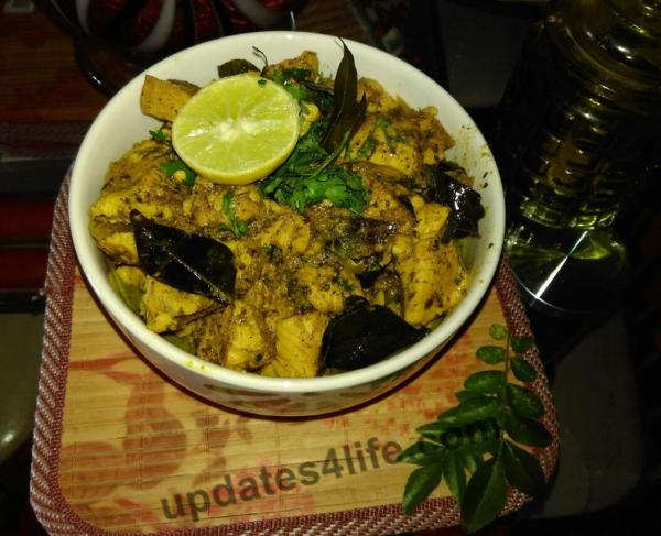 Curry leaves chicken recipe
