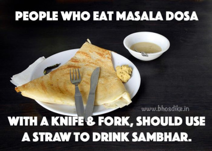 Using Weapons To Take Down Your Dosa