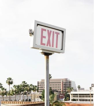 exit safety signage