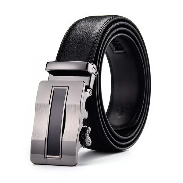 Men Luxury Leather Belt with Automatic Buckle 10