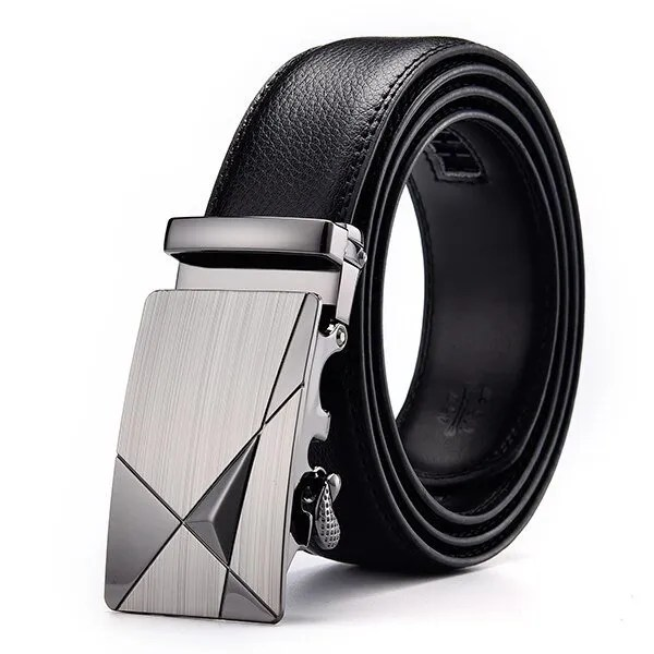 Men Luxury Leather Belt with Automatic Buckle 13