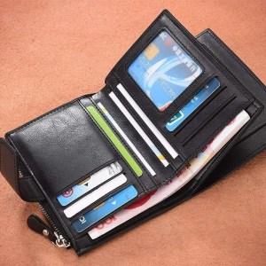 Vintage Men PU Cowhide Leather Multi-Functional Wallet