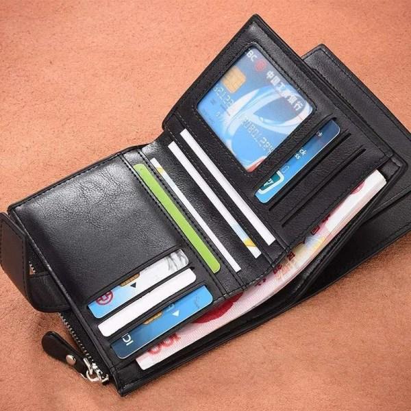 Vintage Men PU Cowhide Leather Multi-Functional Wallet 2