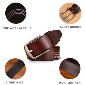 Men Genuine Leather Jeans Belt