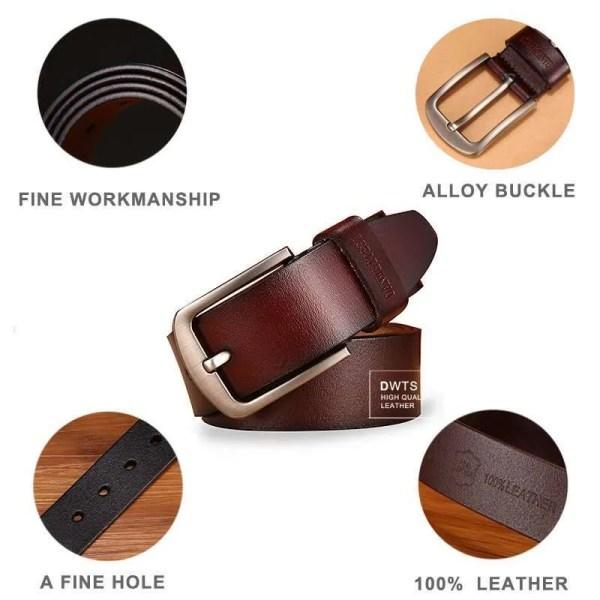 Men Genuine Leather Jeans Belt 2