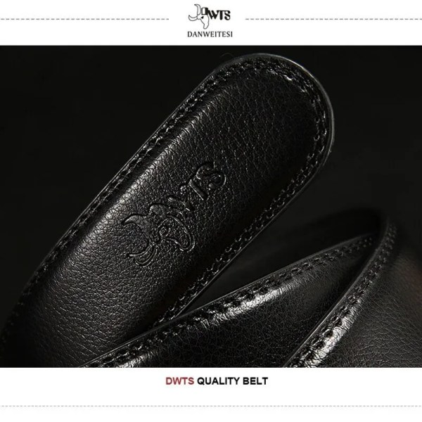 Men Luxury Leather Belt with Automatic Buckle 4