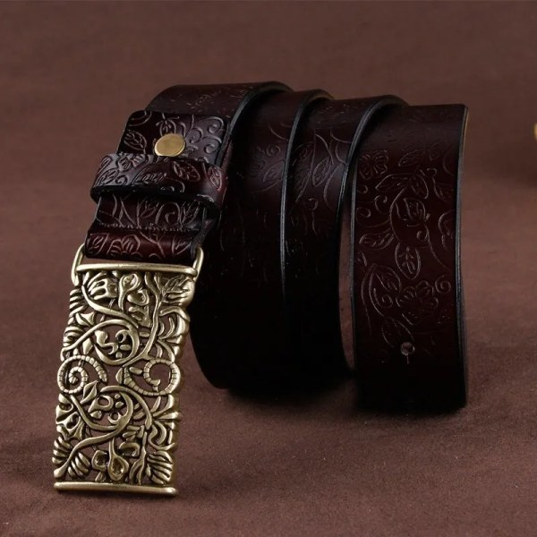 Hand Woven Real Leather Women Casual Belt 3