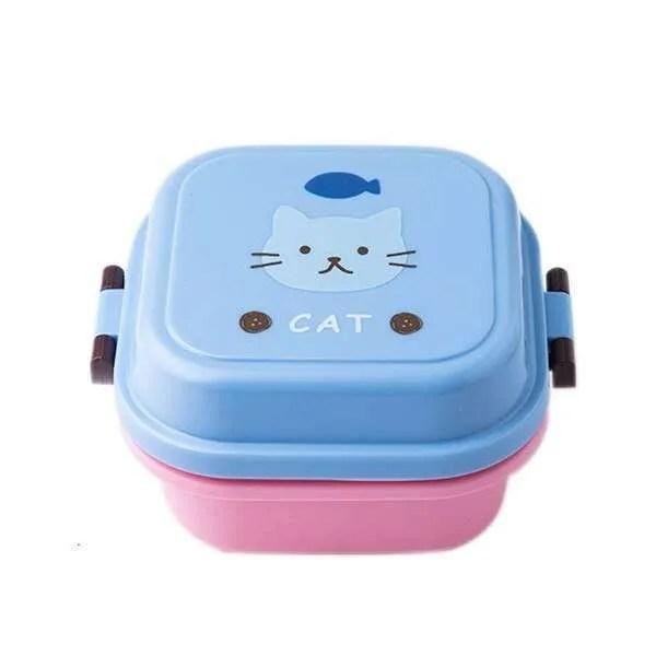 Children Cartoon Style Healthy Plastic Microwave Lunch Box 10