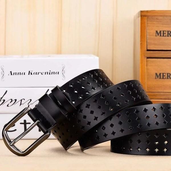 Women Genuine Leather Quality Alloy Fashion Belt for Women 3