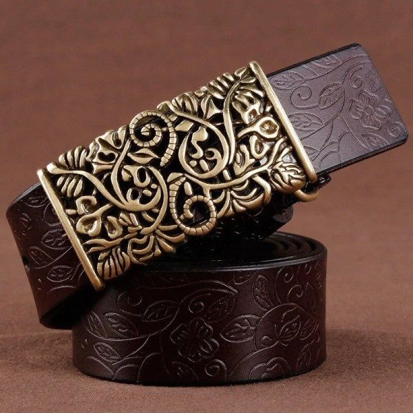Hand Woven Real Leather Women Casual Belt 2