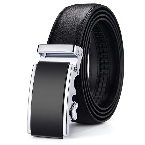 Men Luxury Leather Belt with Automatic Buckle 8
