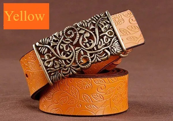 Hand Woven Real Leather Women Casual Belt 12