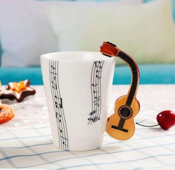 Musical Instruments Style Novelty Ceramic Mugs 8