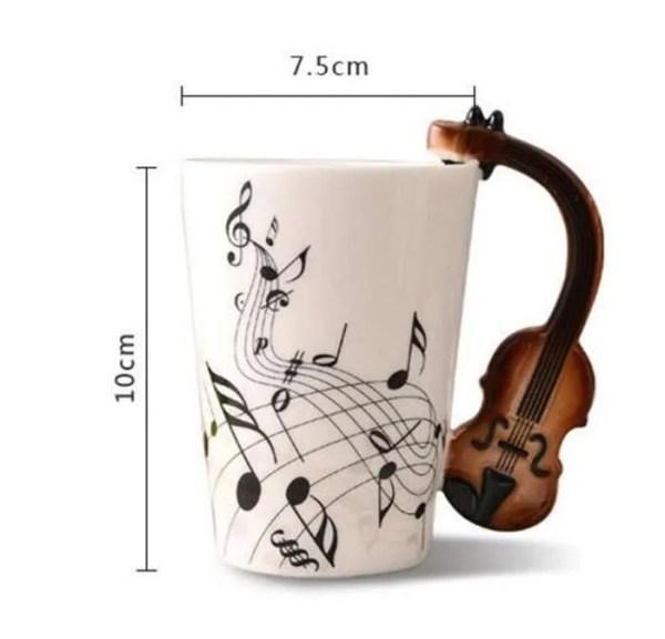 Musical Instruments Style Novelty Ceramic Mugs 1