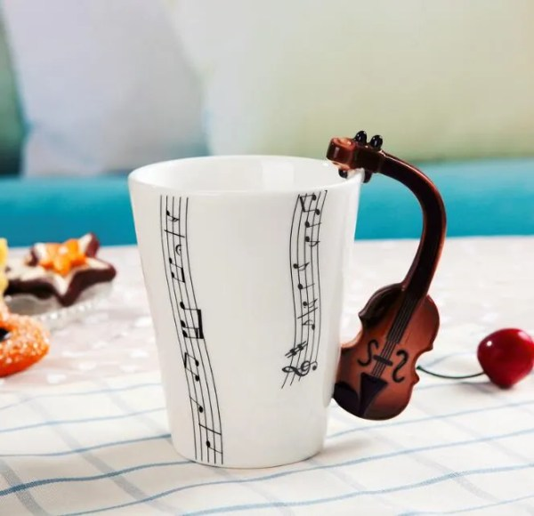 Musical Instruments Style Novelty Ceramic Mugs 9