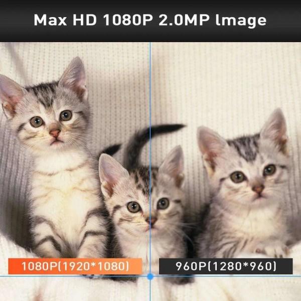 Hiseeu 2MP HD Wireless IP Wifi 1080P Robot Camera 4